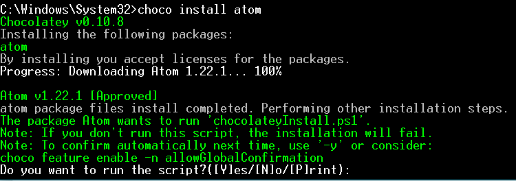 Chocolatey Install