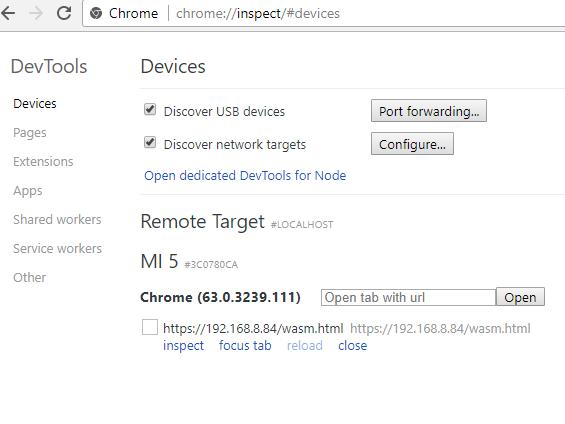 Chrome inspect