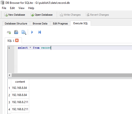 sqlite HTTP request