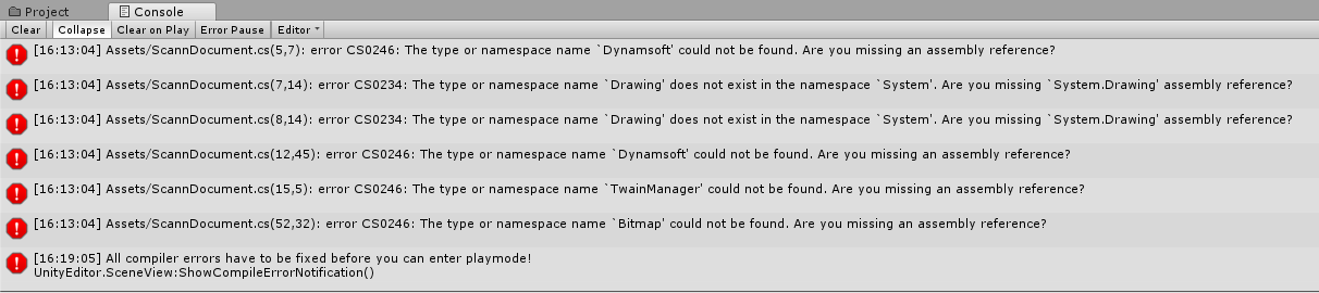 How to Use Dynamic  NET TWAIN in Unity Project