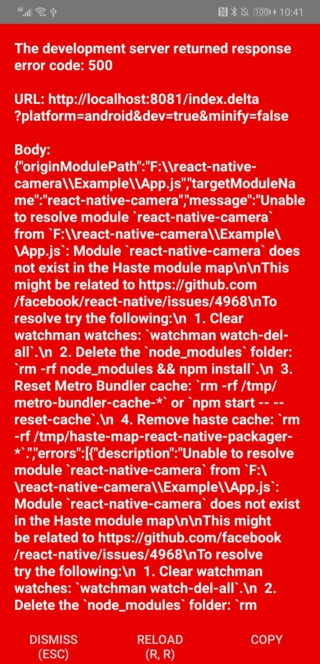 React Native Camera with Dynamsoft Barcode Reader