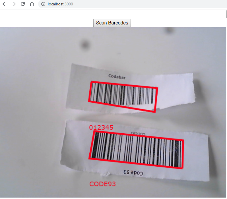react web barcode scanner webcam