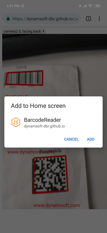 PWA add to home screen