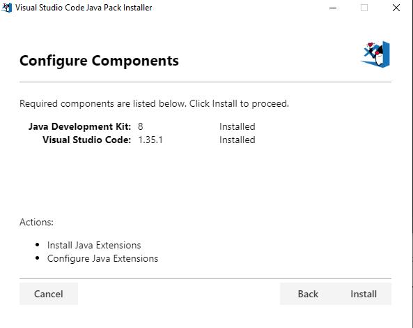 vscode java installer