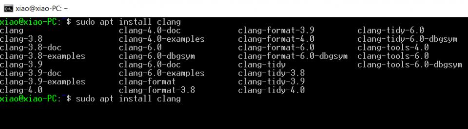 install clang in debian