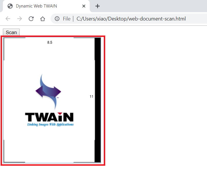 web document scan