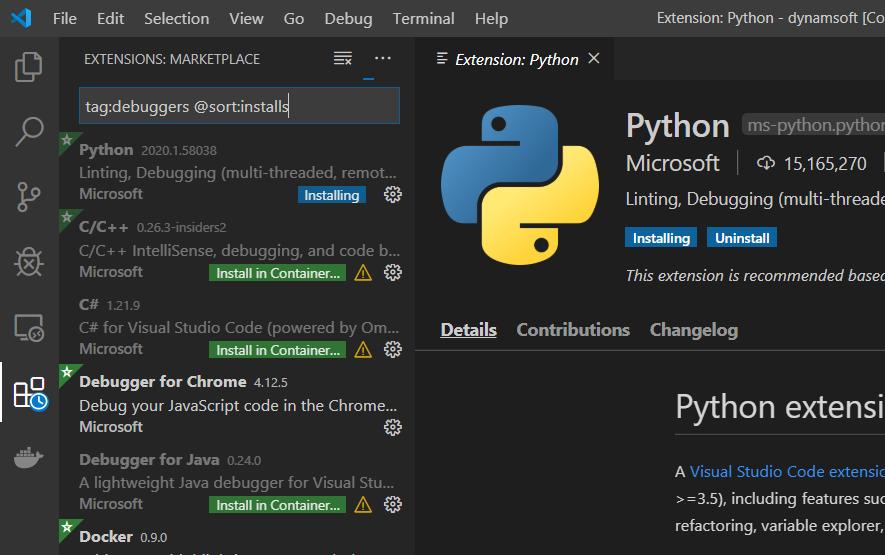 vscode Python debugger
