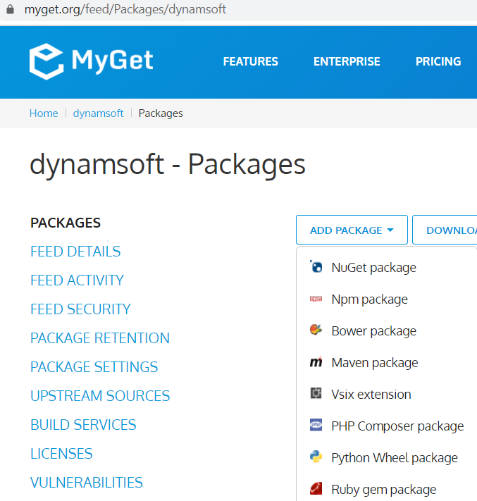 myget package upload