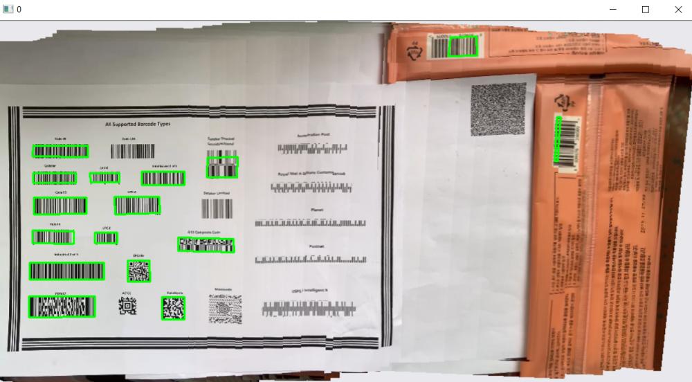 barcode panorama stitching