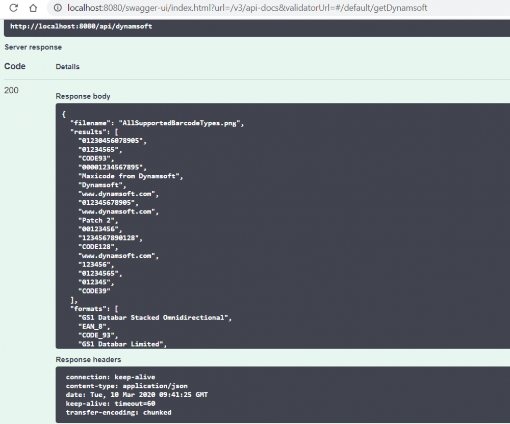 java barcode spring boot