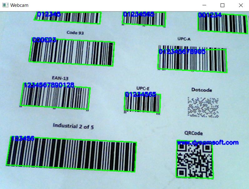 OpenCV Node.js barcode reader with webcam