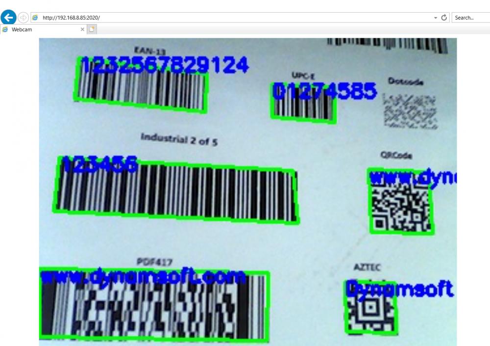 OpenCV Node.js Barcode for web