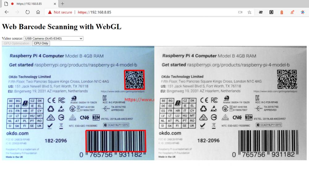 WebGL JavaScript Barcode