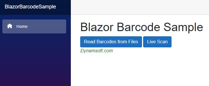 Blazor WebAssembly barcode