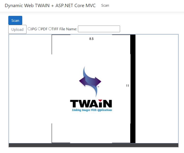 DotNet core document scanning