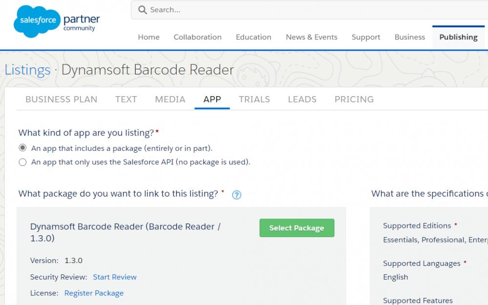 Salesforce package publishing
