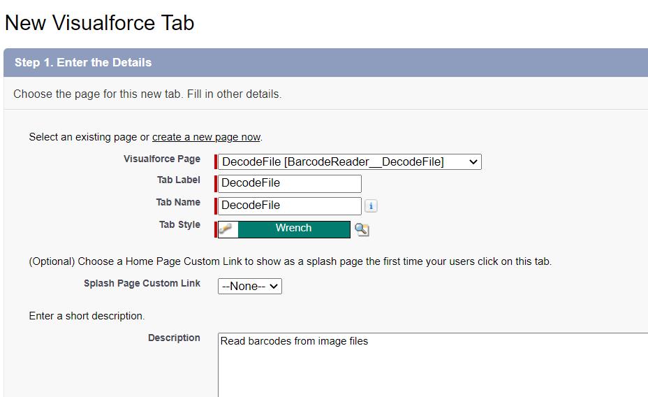 new visualforce tab