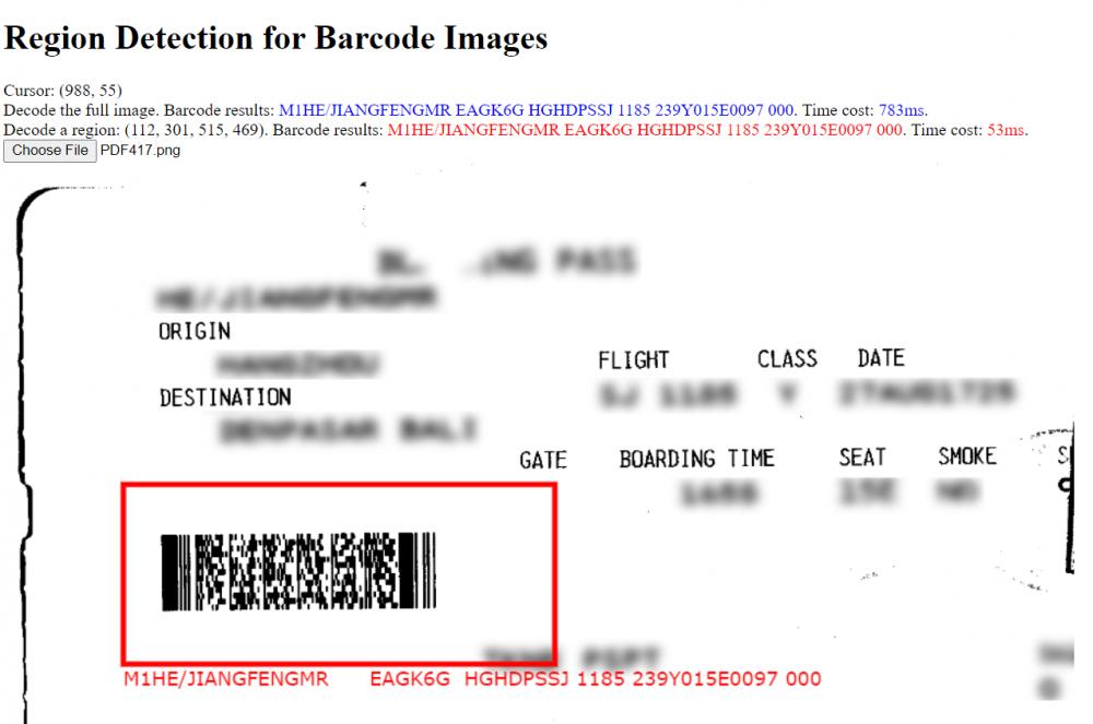 barcode region detection