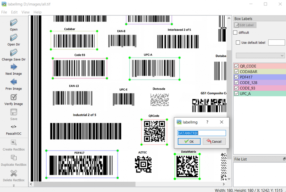 labelimg barcode annotation
