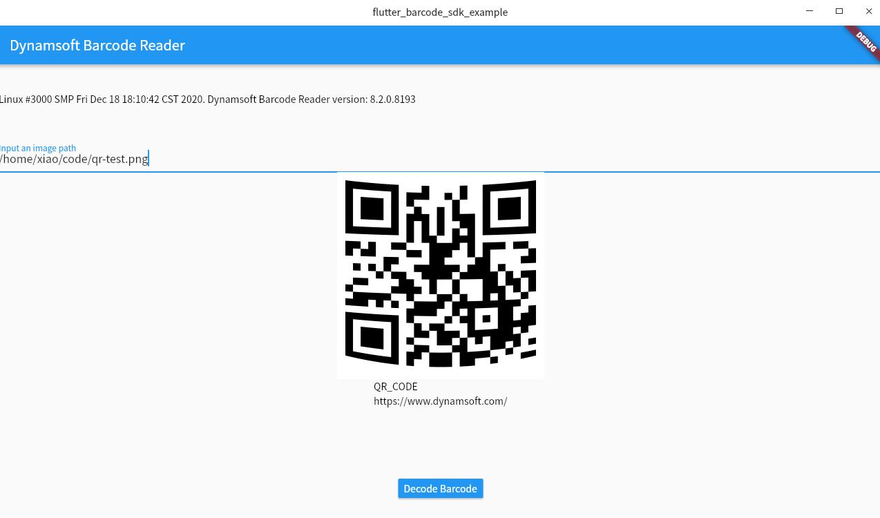 flutter Linux barcode reader