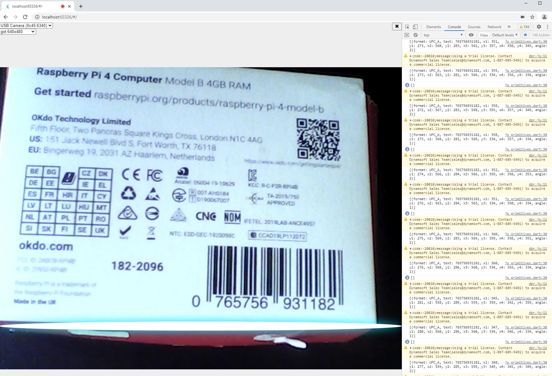 flutter web barcode scanner