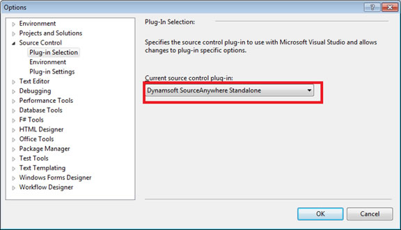Choose Source Control Provider in Visual Studio