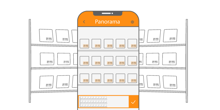 The local mode of Dynamsoft Panorama helps warehouse managers capture all barcodes and stitch them locally.