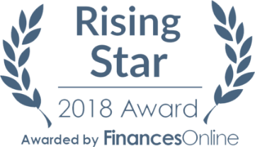 FinancesOnline Award 2018 - Rising Star