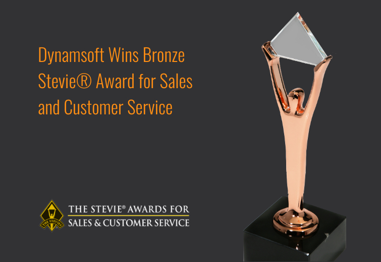 Dynamsoft won Stevie Award